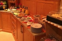 Frühstücksbuffet in der Frühstückspension Kuzmic